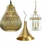 Golden pendant lights